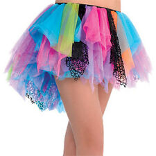 80s Style Rainbow Tutu Skirt - 1980's Fancy Dress