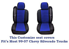 New Black/Blue Mesh Custom seat covers Fit's 1999~2006 Chevy Silverado Truck's