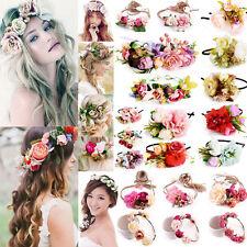 Femmes Bande de cheveux fleur serre-tête Couronne Mariée Fleurs Fête Mariage