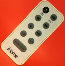 Genuine iHome White Remote Control OEM for iPhone / iPod Dock Alarm Clock Radio