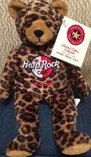 Hard Rock Cafe MALTA 2003 Leopard TEDDY BEARA BEAR w/HRC FLAG Logo NO SWING TAG!