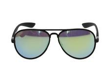 Lunettes solaire aviateur verres teintés miroir argent +  Pochette à lunette.