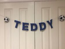 Football Personalised Name Bunting, Banner, Garland,