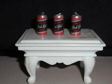 BEER CAN CHARMS 3 MINI (BLACK LABEL ) BEER CAN CHARMS / DOLL HOUSE CANS
