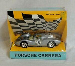 LOOK! 1960`S ZEE TOYS 1/24 PORSCHE CARRERA 906 LEMANS FRICTION RACE CAR IS MIB!