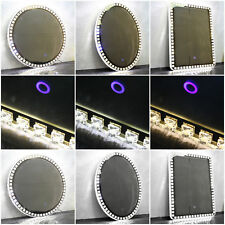 LED Illuminated Bathroom Mirror Sensor Button Venetian Diamond Round Rectange