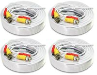 4x 50 Ft Power Video Pre-made Ready made Siamese CCTV Cable for Security Camera