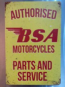 Retro Sign Motor Garage Cave Bar Cafe Shed 30cm x 20cm BSA PARTS & SERVICE