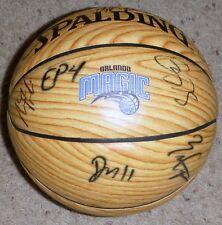Orlando Magic 2014-15 Team Signed Wood Basketball aaron gordon victor oladipo