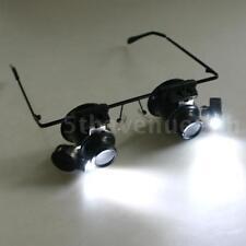 Uhrmacher Lupe 20X Lupenbrille mit LED-Licht Kamera Uhr Elektronik Wartung G6P0