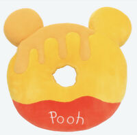 Disney Winnie the Pooh Honey Doughnut Donut Cushion Tokyo Disneyland Limited