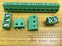 10 Way 15A 150V 135° Angle PCB 1.5mm2 Wire Terminal Block 5.08mm Pitch Multi Qty