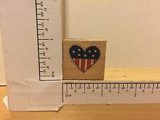 Westwater Enterprises #12143 Heart Stars n Stripes Patriotic rubber stamp