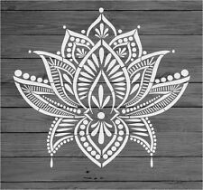 Stencil Mylar re-usable shabby chic vintage LOTUS MANDALA 235 mm x 200 mm 2904