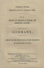 1886 First German Wine Exposition - British Consul Report