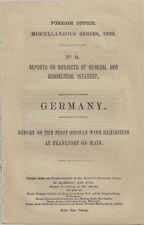 1886 First German Wine Exposition - British Consul Report