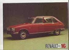 RENAULT 16 SALES BROCHURE SEPTEMBER 1967 FOR 1968 MODEL YEAR