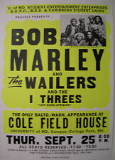 BOB MARLEY & THE WAILERS GLOBE CONCERT TOUR POSTER 1975