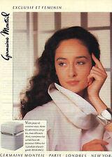 PUBLICITE ADVERTISING 1981    GERMAINE MONTEIL cosmétiques