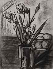 Lucienne OLIVIERI, 49x63cm ART DECO 1930, dessin au fusain, Picasso, kubistin