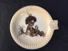 More details for vintage ashtray brownie downing ? australian black boy child sitting aborigine
