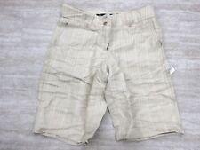 NEW Da Nang Women's Pockets Beige Bermuda Shorts LS51979 Size 8