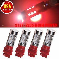 4X Super Red 3157 3156 High Power 25W LED Brake Tail Stop Light Bulb DC12V - 24V