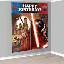 Star Wars The Force Awakens WALL POSTER Decoration Kit Scene Setter Birthday