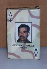 "PLAYING CARDS ""SADDAM"" W/TRI-DESERT BOX, BLACK&WHITE DIAMOND PATTERN, W/JOKERS!"