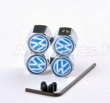 KIT 4 Bouchon de valve Antivol -  VW Volkswagen - INOX - TUNING - INSIGNE LOGO -
