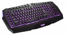 3 Backlight Color LED Multimedia Illuminated USB Wired Macro Key Gaming Keyboard