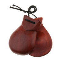 Portable Wood Castanet Hand Clapper Non-toxic Kids Musical Toy Birthday Gift