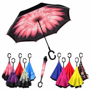 Ombrello Inverso Reversibile Antivento Con Apertura Al Contrario Pioggia
