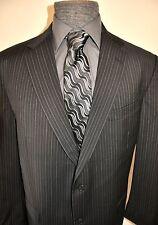 INCREDIBLE! Hart Schaffner Marx Gold 3 Button Pinstripe Jacket  Sz 46 Long
