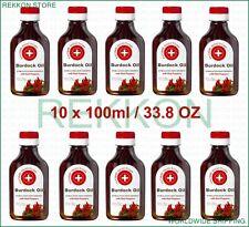Organic 10 x 100ml 10 OZ Burdock Oil with Red Pepper Stimulates Hair Growth FrSh