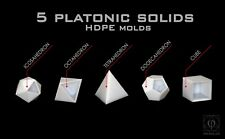 Platonic Solids Mold Set,Orgone Casting Mold, HDPE