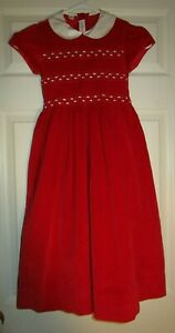 ANAVINI~girl's~SMOCKED/BODICE/FRONT/CHRISTMAS/LINED/RED/DRESS! (6/X) BRAND/NEW!