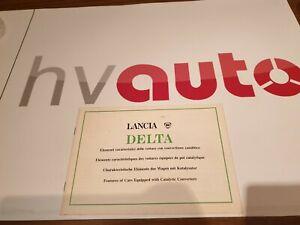 Lancia Delta HF turbo & GTie Betriebsanleitung deutsch/italienisch original neu!