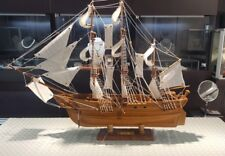 "Model Ship 36""x27"" Vintage Hms Bounty U.K. 1787 Sailboat"