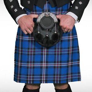 Scottish   Rangers Tartan Heavy Kilt & Kilt Pin   Geoffrey