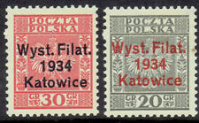 POLAND   ,,FIRST  PHILATELIC  EXHIBITION  IN  KATOWICE    5. V. 1934. ,2' stamps