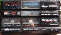 Vintage Sanyo DCX-560 System 560 Stereo Receiver & Dual Cassette Player