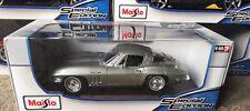 1:18 maisto 1965 Chevrolet Corvette American Classic Muscle Sports Super Car Sil
