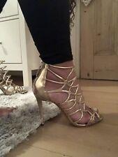 Aldo 'ERYDE' Gold Strap Sandal Heels Size 5/38