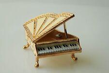 SWAROVSKI CRYSTAL PIANO JEWERLY  BOX