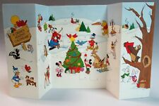 4-Fold A Disney Advent Calendar - Mickey, Minnie, Goofy, Winnie, Bambi, etc.