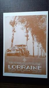 CPM Advertising AUTOMOTIVE To Debut of / The Century Lorraine Car French