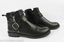 Bottines Boots BONGENIE GRIEDER Tout Cuir Noir ITALIE T 39 TTBE