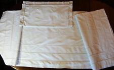 Parure coton brodée main - drap 2m10 x 3m10 +1 taie - linge déclassé 2è choix -
