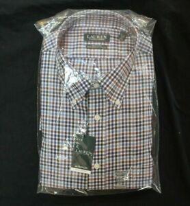 NWT Ralph Lauren Men's Ultraflex Regular Fit Shirt, Blue Multi 17 1/2 x 34/35 XL